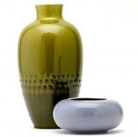 vase (+ bowl; 2 works) by kenton hills