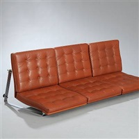 moduline - wall mounted three seater sofa by ole gjerlov-knudsen & torben lind
