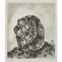 elijah on mount carmel (framed) by marc chagall