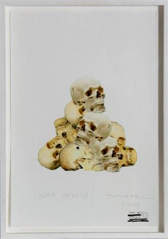 sad skulls by tony matelli