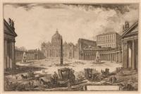 veduta della gran piazza e basilica de s. pietro by giovanni battista piranesi