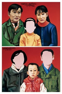 no. 3 (+ no. 16; 2 works from one child policy series) by wang jinsong
