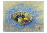 fruit in persian pot by daijo aoki