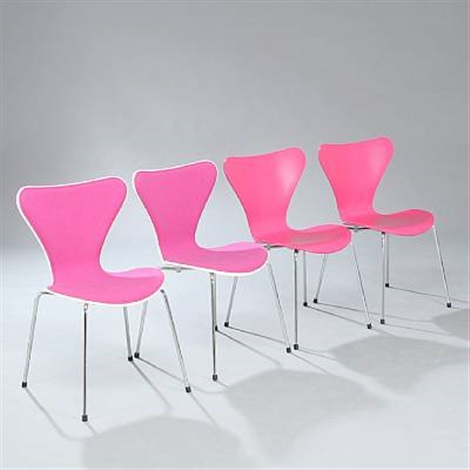 seven chair (set of 4) by arne jacobsen