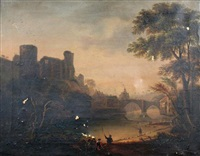 view of barnard castle by james miller