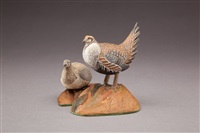 miniature sage grouse pair by allen j. king