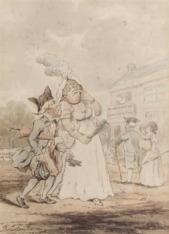 a nincompoop or hen peckd husband by thomas rowlandson