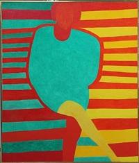 ellen christensen i grøn kjole med rød kant by kirsten lockenwitz