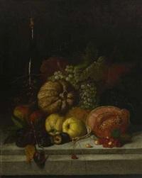stillleben mit früchten (+ stilleben mit erlegten vögeln; 2 works) by joseph correggio