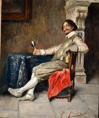 caballero descansando by alex de andreis