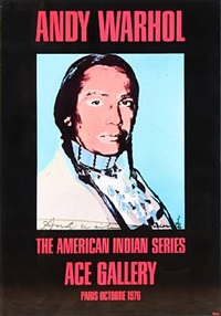 the american indian series, ace gallery, paris 1976 by andy warhol