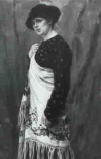 dame in folkloristischem gewand by miguel sokolowski
