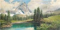 il cervino e lago blu by licinio campagnari