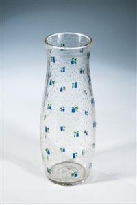 seltene vase mit glockenblumen by josef hoffmann