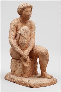 sittande modell by asmund arle