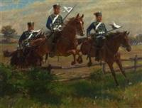 preussische reiterei by oscar merte