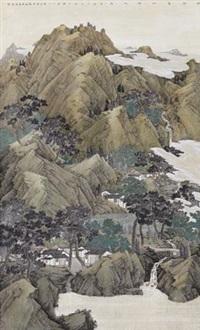 依得青山傍水居 (landscape) by xu chaoyu