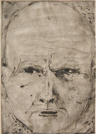 positive self portrait state 2 by jim dine