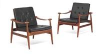 spade chair (model fd 133) (pair) by finn juhl