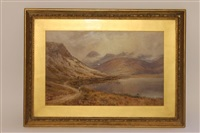 pillar rock and mountain, ennerdale, cumberland by e. a. warmington