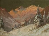 alpine landscape by franz waldegg