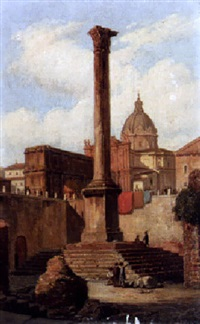 view of rome by domenico amici