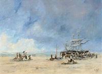 fischverkauf am strand by w. webb