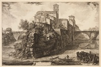 veduta dell isola tiberina by giovanni battista piranesi
