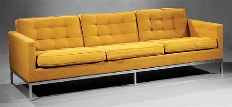 Pair Of Florence Knoll Sofas By Florence Knoll