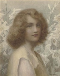 beauty and lilies by henry ryland
