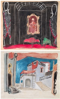 senza titolo (bozzetti; 4 works) by gianni vagnetti