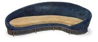 grande divano curvo con struttura by federico munari