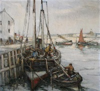 harbour view in fife (pittenweem?) by arthur macdonald