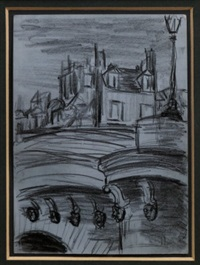 pont neuf, a preparatory sketch for fleurs du mal by sir jacob epstein
