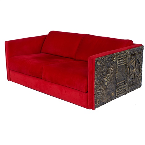 Sofaloveseat by adrian pearsall on artnet for Sofa 75 cm tief