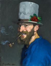 autoportrait à la pipe by louis anquetin