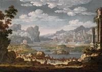 die belagerung einer stadt durch die truppen des francesco d'este, herzog von modena by jan van bunnick
