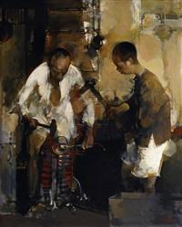 blacksmith's shop in the village by jiang jianzhong