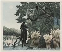 la charmeuse de serpents (by roger lacourière) by henri rousseau