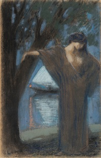 Dancer by the water, 1900