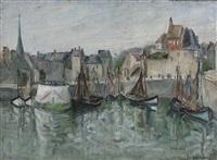 fischerboote im hafen by henriette le pesqueux