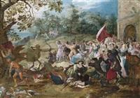 mensch und tier im kampf mit chronos und dem tod by david vinckboons