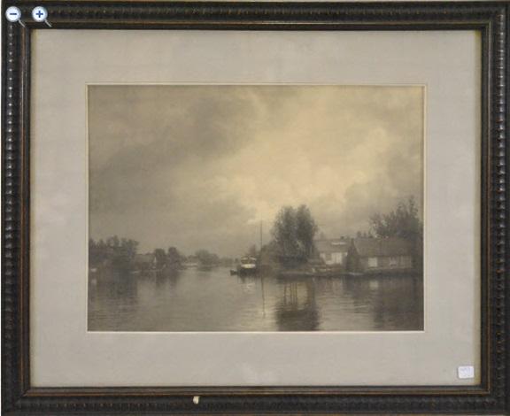 paysage fluvial by léonard misonne