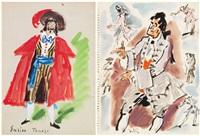 costumi teatrali (disegni; 5 works) by gianni vagnetti