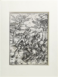 ercole sconfigge i gemelli molionidi by albrecht dürer