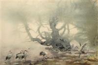 仙姿鹤舞 by he jianguo