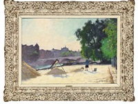 le pont royal et la gare d'orsay by jules ernest renoux