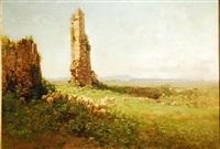 paisaje con ovejas by edoardo cortese