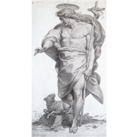 standing figure of christ as the good shepherd by giuseppe cades