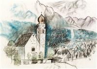 konvolut: zwei zeichnungen by josef dobrowsky